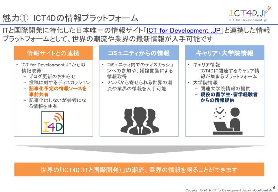 ICT4D の情報プラットフォーム