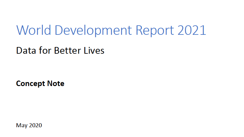 世界銀行 World Development Report 2021「Data for Better Lives」Concept Note【その3】